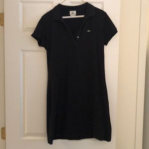 Lacoste black t shirt dress